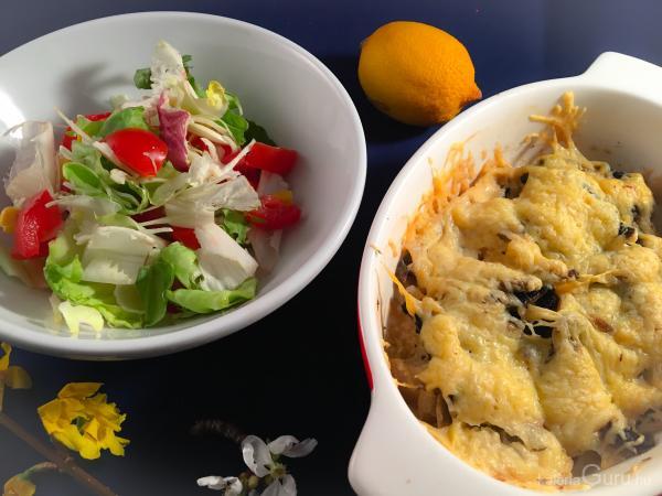 Sajtos tőkehal gombával recept - Receptek kalóriaértékekkel